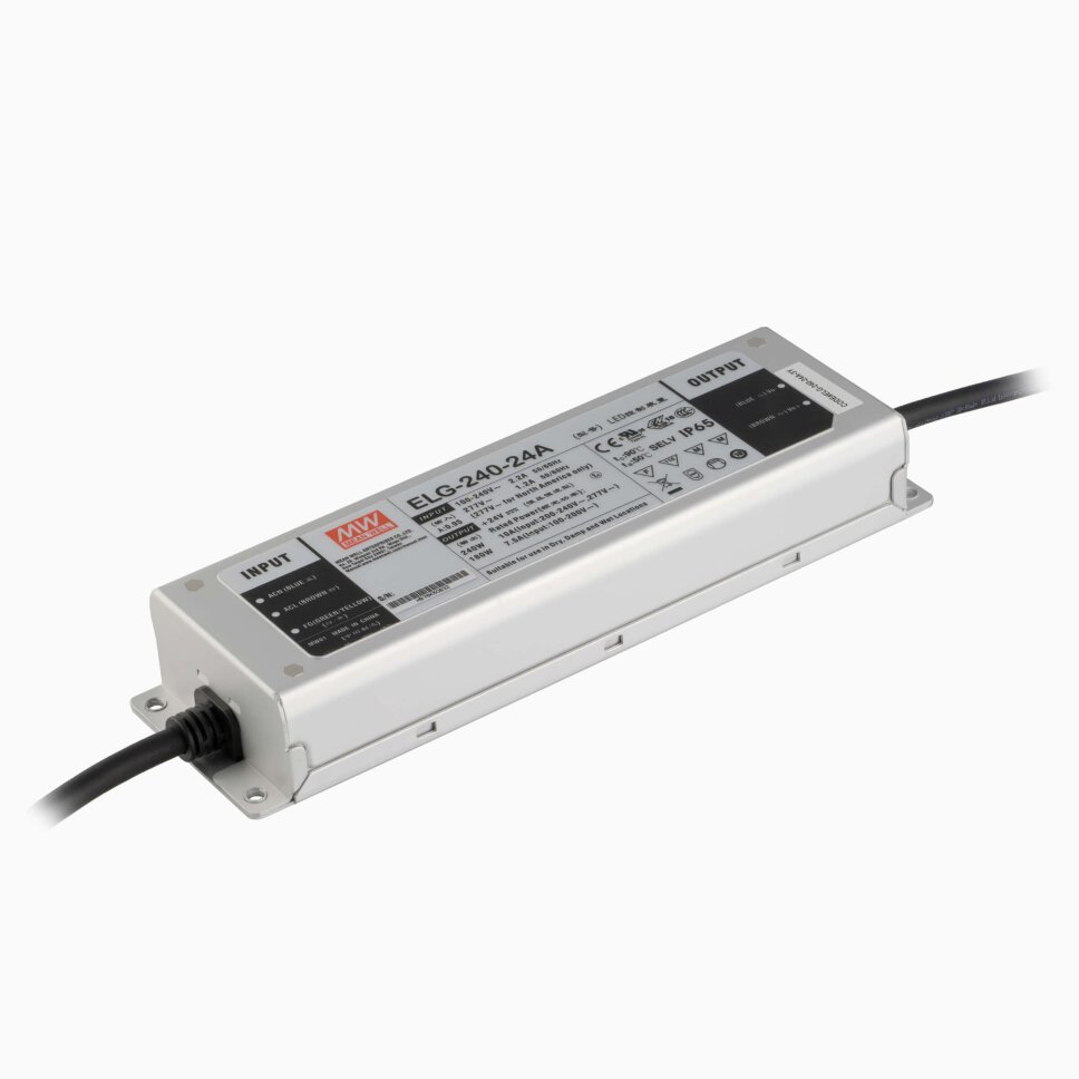 MeanWell LED Netzteil ELG-240-24B-3Y    24V 240W IP67 inkl. Dimmanschluss